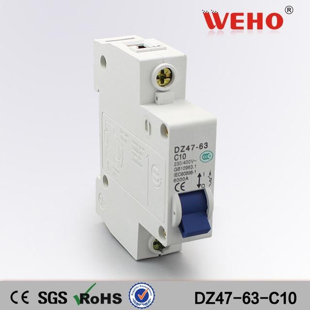 DZ47 63 C10 China Online Selling Cheap Price DZ47 63 Types 10A Mcb 1 ...