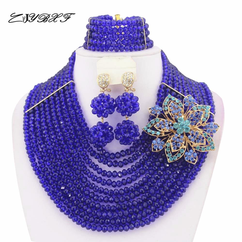 ộ_ộ ༽Collar de traje africano conjunto cristal Cuentas conjunto de ...