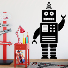 Free Shipping Funny Robot Wall Sticker Self Adhesive Vinyl Waterproof Art Decal Home Decor Kids Room Stickers