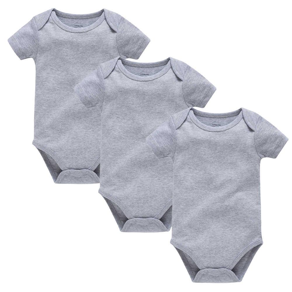 Kavkas 3 uds 5 uds bebé Niños Niñas Ropa Blanco sólido manga corta bodis de algodón para bebé cuerpo bebe 0-24 meses mono recién nacido