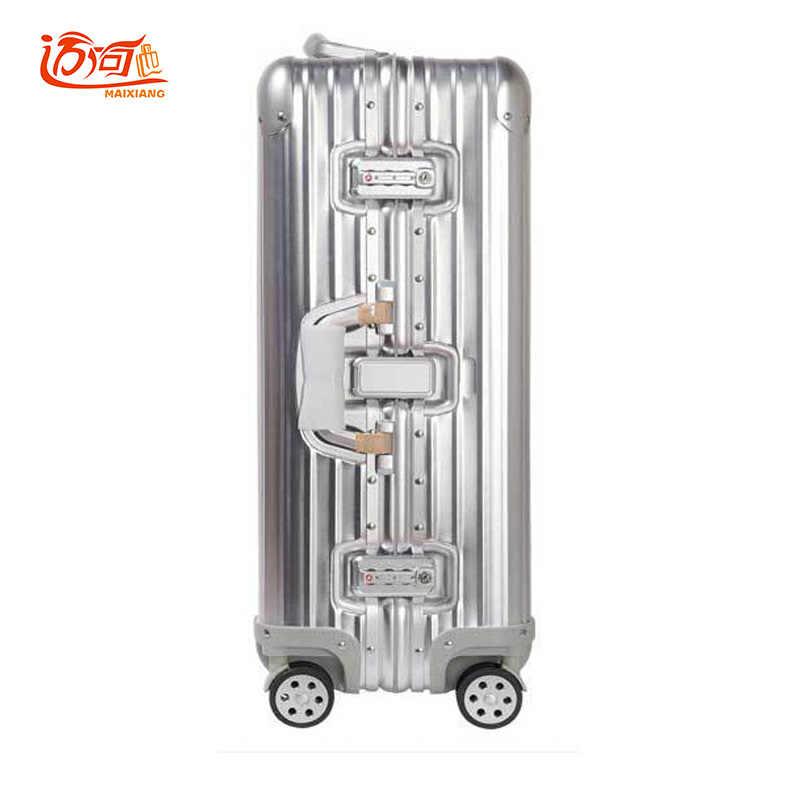 100% Полный Алюминий Rolling Чемодан тележка чемодан тележка антикварной чемодан Kinder Koffer Rolling