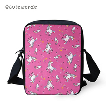 ELVISWORDS Fashion Women Messenger Bags Little Horse Pattern Shoulder Cartoon Animal Girls Flaps Handbags Mini Kids Mochila