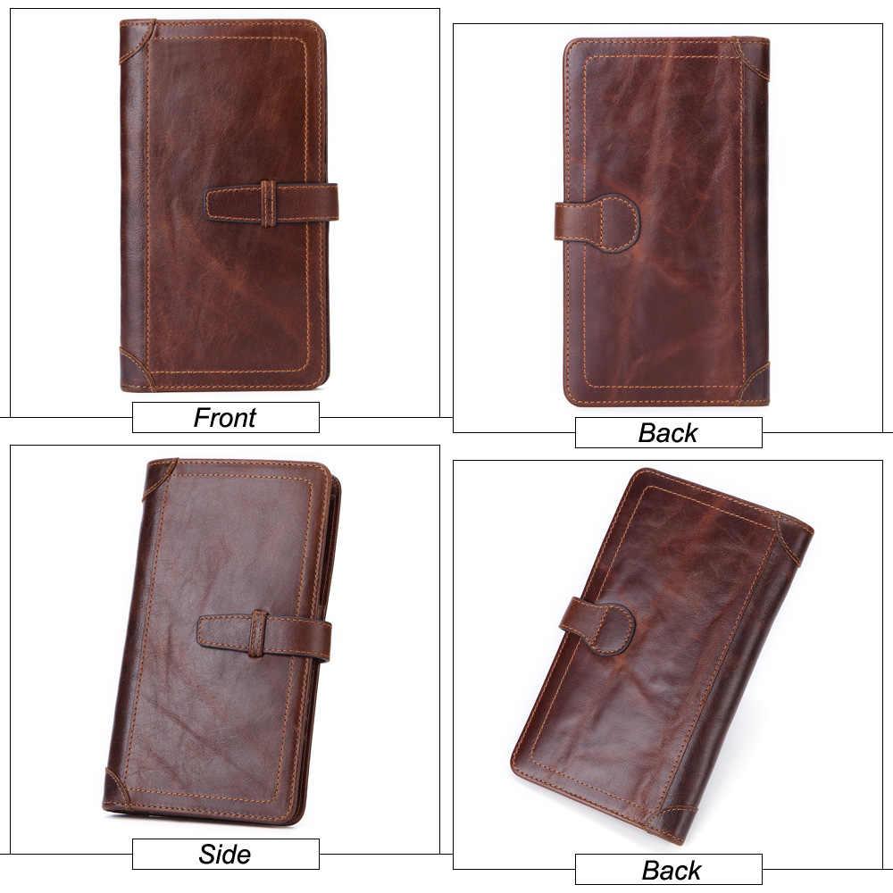 MISFITS, новинка, натуральная кожа, Мужской Длинный кошелек, бизнес с застежкой, клатч, органайзер, кошельки, тонкий кошелек для монет, держатель для карт, мужской карман для телефона