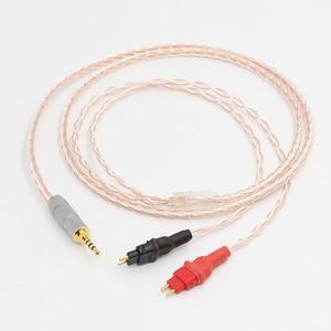 Image 1 - 2,5mm TRRS AUSGEGLICHEN Kabel Für HD650 HD600 HD660s Silber & Kupfer Twisted kopfhörer verbesserte kabel