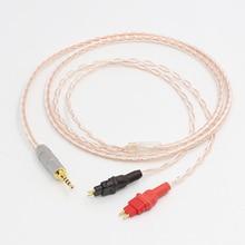 2.5mm kabel zbalansowany TRRS do HD650 HD600 HD660s srebrny i miedziany skręcony zmodernizowany kabel słuchawkowy