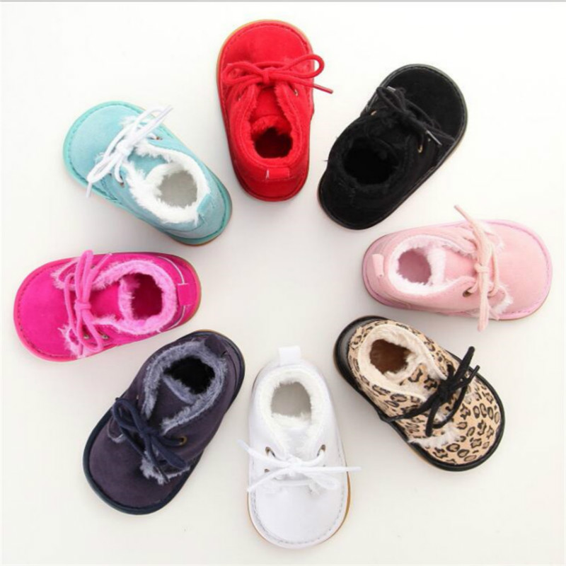Newborn Baby Girl Boy Shoes Warm Snow Boots Toddler Infant Booties Prewalker Black White Pink Red Children Shoes