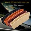 2 UNID/asiento de coche vacío caja del contenido del almacén de varios colores opcionales de alta calidad caja de costura bolsillo del asiento del coche clip de la bolsa