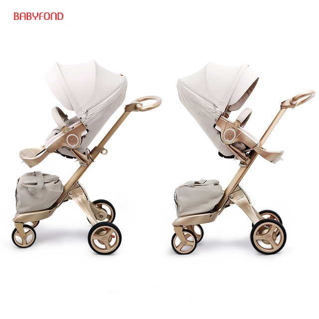 Free ship! Free Gifts! Original EU 2 in 1 baby stroller baby high landscape folding Portable Baby Carriage For Newborns stroller