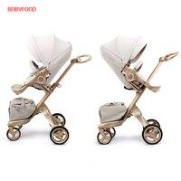 Бесплатная доставка! Бесплатные подарки! Оригинальный EU 2 в 1 детская коляска детская Высокая Ландшафтная складная переносная детская коляс