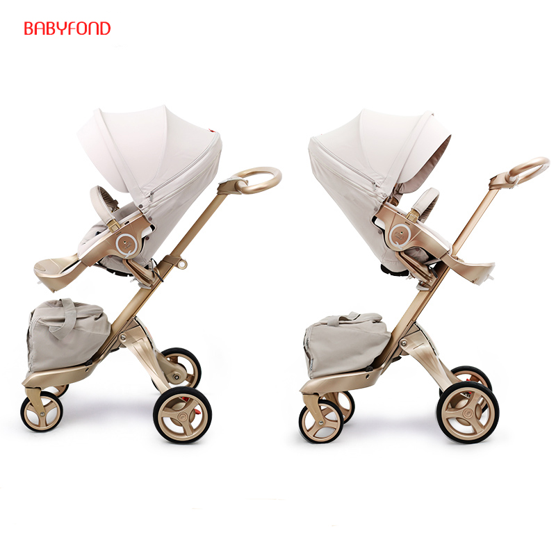 Free ship! Free Gifts! Original EU 2 in 1 baby stroller baby high landscape folding strollers send free gifts black frame ...