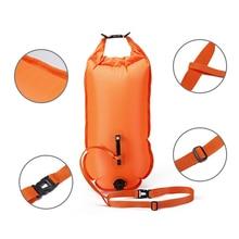 QUBABOBO Swim Buoy PVC Material 20L Swimming Tow Float Plus, Dry Bag untuk Perenang Terbuka Air dan Triathletes