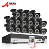 ANRAN 16CH Surveillance System AHD 1080N HDMI DVR 720P 1800TVL IR Outdoor Camera Home Video CCTV