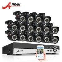 ANRAN 16CH Surveillance System AHD 1080N HDMI DVR 720P 1800TVL IR Outdoor Camera Home Video CCTV