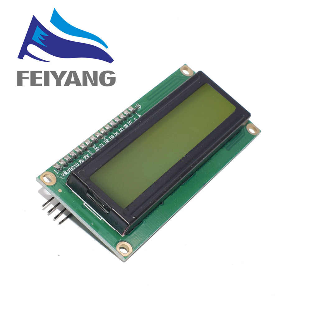 LCD1602 + I2C LCD 1602 מודול כחול/ירוק מסך PCF8574 IIC/I2C LCD1602 מתאם צלחת