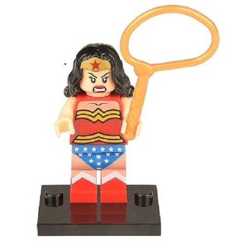 20 шт. XH 056 здания Конструкторы Super Heroes Wonder Woman человек-Факел Женщина-кошка Бэтмен кирпича фигурки Игрушечные лошадки для Детский подарок