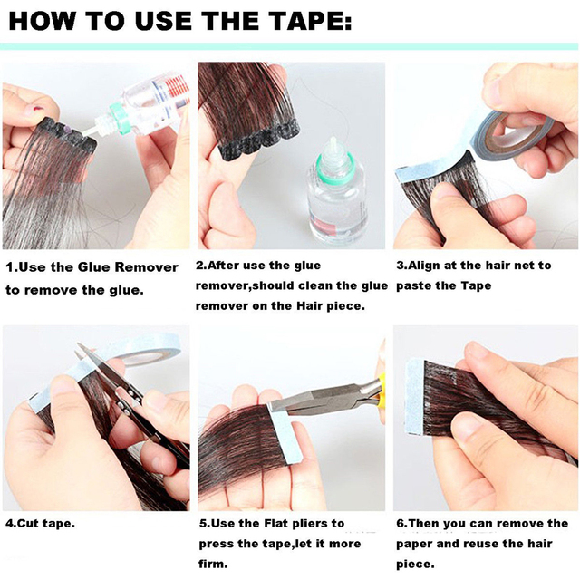 Blue lace front support Wig Double-sided Adhesive Tape 300cm Adhesive Double-sided Hairpiece Fixation Wig for Tape Hair Extensio 3
