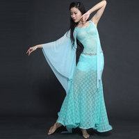 New Gazue Long Irregular Sleeve Lace Modal Sexy Belly Dance One Piece Dress For Women Female