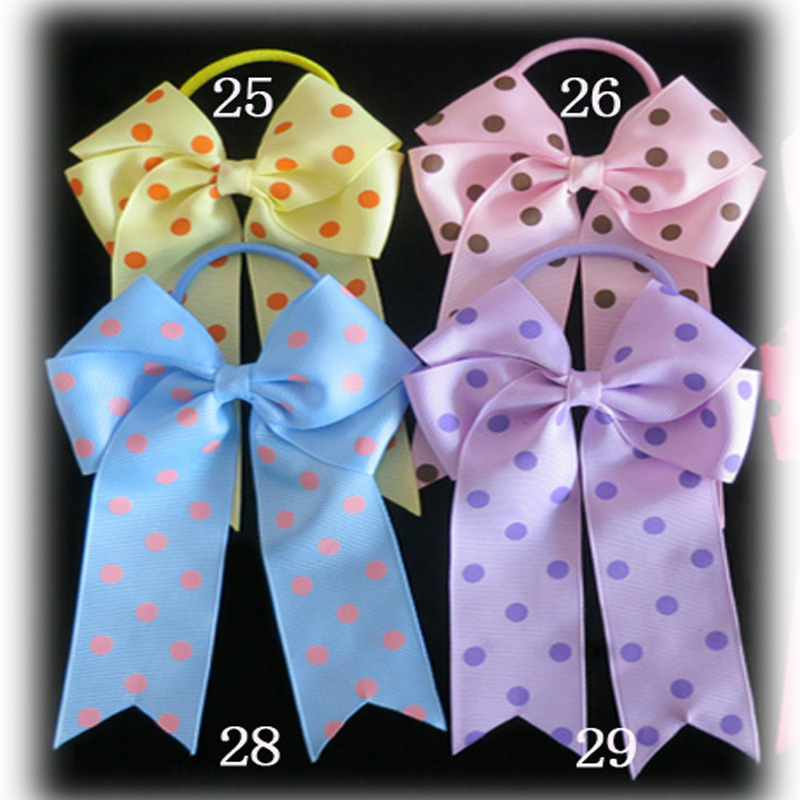 200 BLESSING Good Girl Hair Accessories Long Tail 4.5 Cheer Leader Bow Elastic