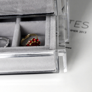 Image 5 - ป้องกันฝุ่นกล่องเครื่องประดับกล่องสุภาพสตรีจี้นาฬิกาRackกล่องต่างหูสร้อยคอเครื่องประดับกล่องYSUMI