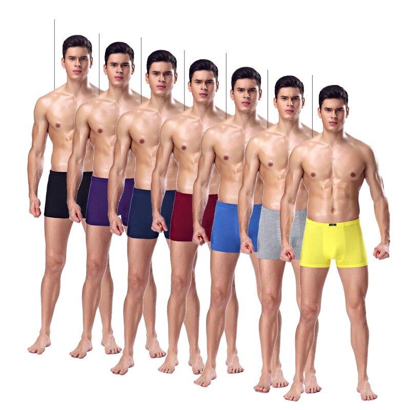7pcs/lot Brand Modal Boxer Men Underwear Mens Shorts Boxers Gray Sexy Homme Underpants Cheap Underclothes Modal Underwaist Y836 #4