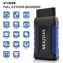 цена на NexzDAS Lite Auto Diagnostic Tool Bluetooth 4.2 To Android Full System DTC ABS SRS EPB DPF Code Reader 12-24V Car OBDII Scanner