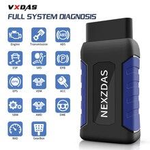 Купить с кэшбэком VXDAS NexzDAS Lite Auto Diagnostic Tool Bluetooth 4.2 To Android Full System/Full Function Supportable 12-24V Car OBDII Scanner