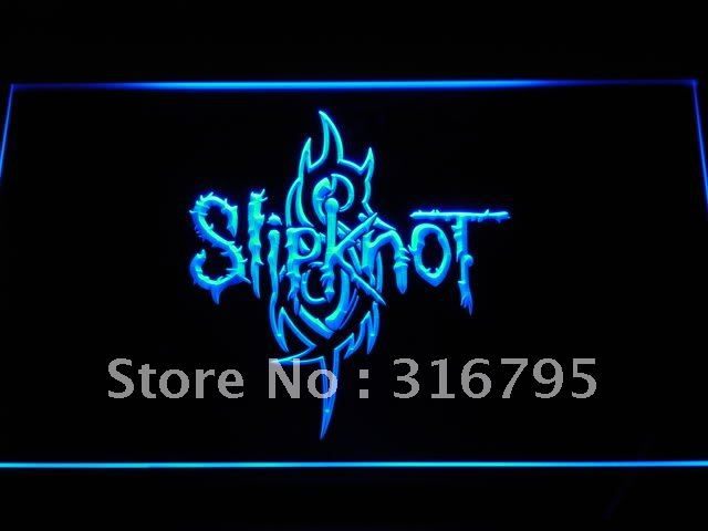 c107 Slipknot Band Logo Rock n Roll LED Neon Sign with On/Off Switch 20+ Colors 5 Sizes to choose