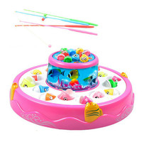 HINST Children Electric Double Light Music Magnetic Double Fishing Fuuny Toy Cooperation Between Small Partners Dec4