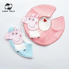 Newborn baby cotton cute baby bib child baby saliva towelYoung child bib soft cotton bib waterproof saliva droplets water bib