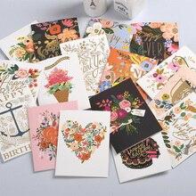 16 цветов, стильные визитные карточки, открытки на день рождения, открытки на день благодарения, бумажный перламутровый конверт, открытка на день Святого Валентина, открытка с узором is clea