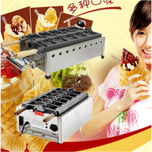 Stainless steel open mouth Taiyaki waffle baker fish cake former Snapper mould snack baking machine