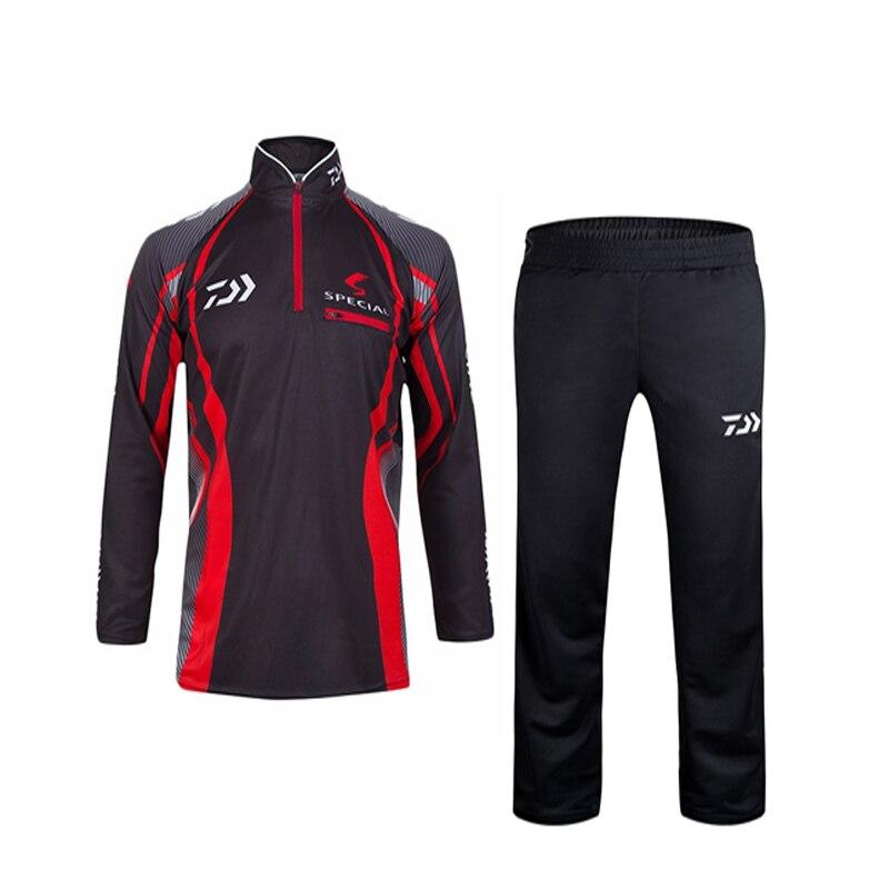 2017 Fishing <font><b>Clothing</b></font> Sets Men Breathable UPF 50+ <font><b>UV</b></font> Protection Outdoor Sportswear Suit Summer Fishing Shirt Pants Two color