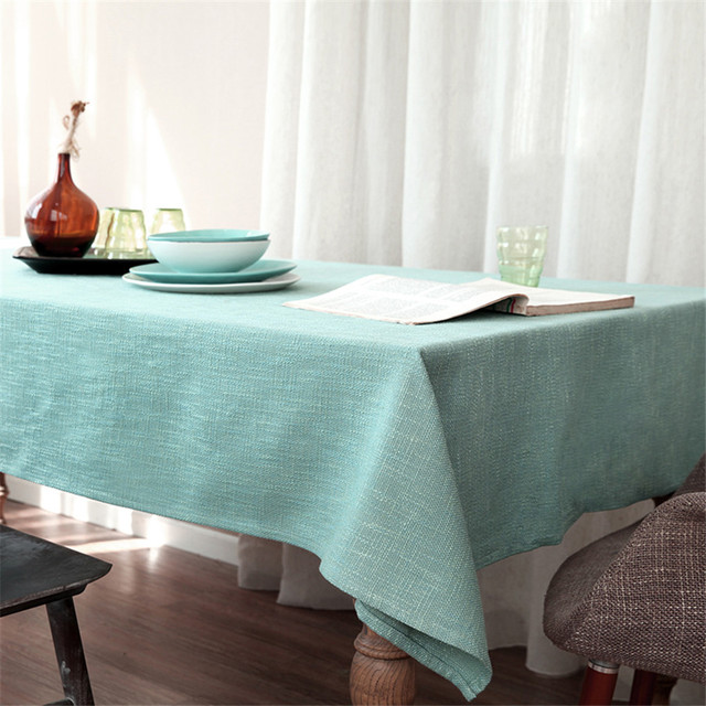 Solid Color Cotton Tablecloth Rectangle/square Customized Table Cloth Tea  Coffee Table Cover Home Decor