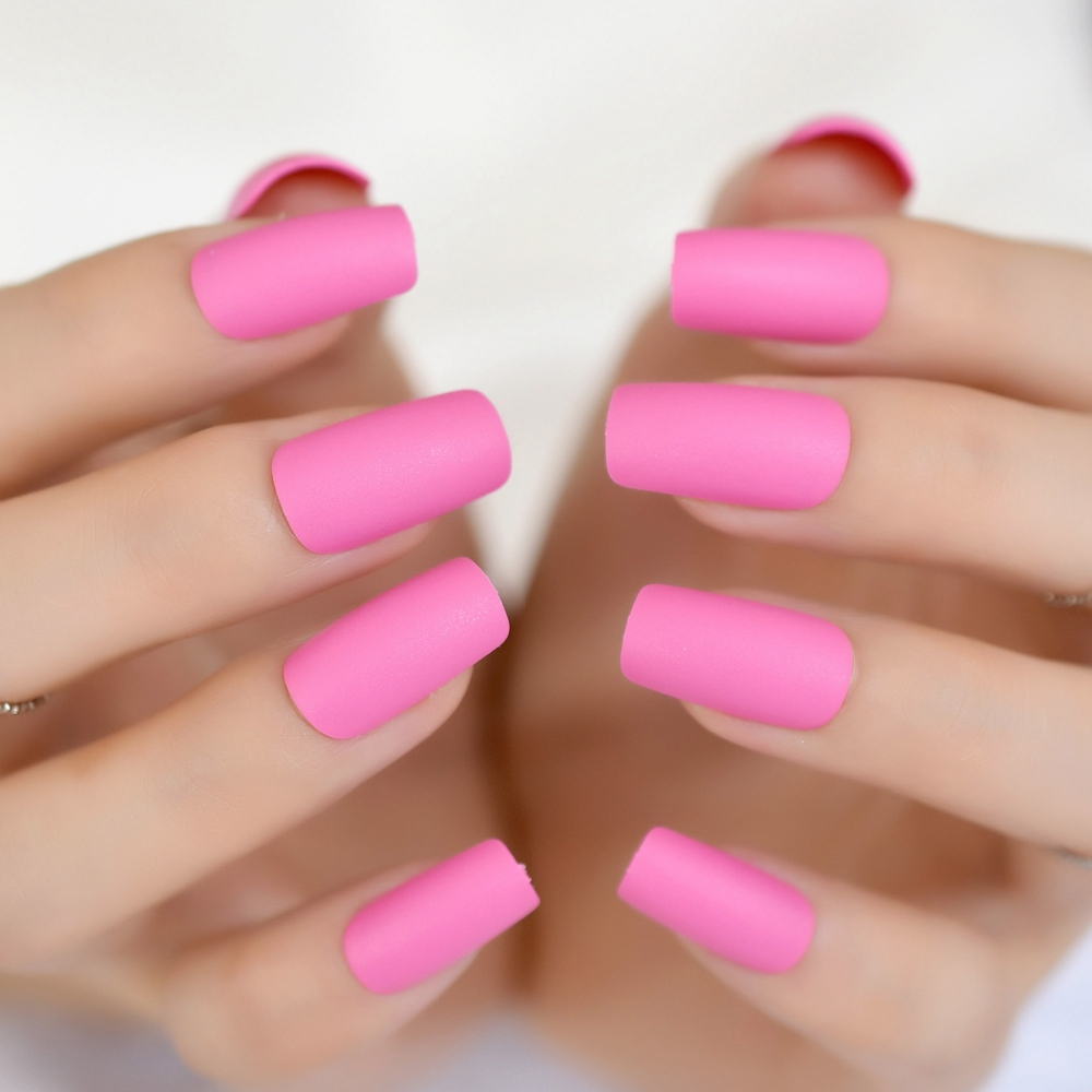 candy dark rose matte nail