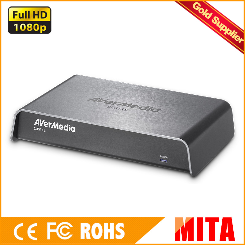 AVerMedia USB3.0 Video Capture Card, HDMI/DVI/VGA/Composite/S-Video/3G-SDI Input,1920 x 1200 60fps (CU511B) avermedia darkcrystal hd capture sdk duo c129 up to 1080p30 i60 hdmi component s video composite with complete sdk