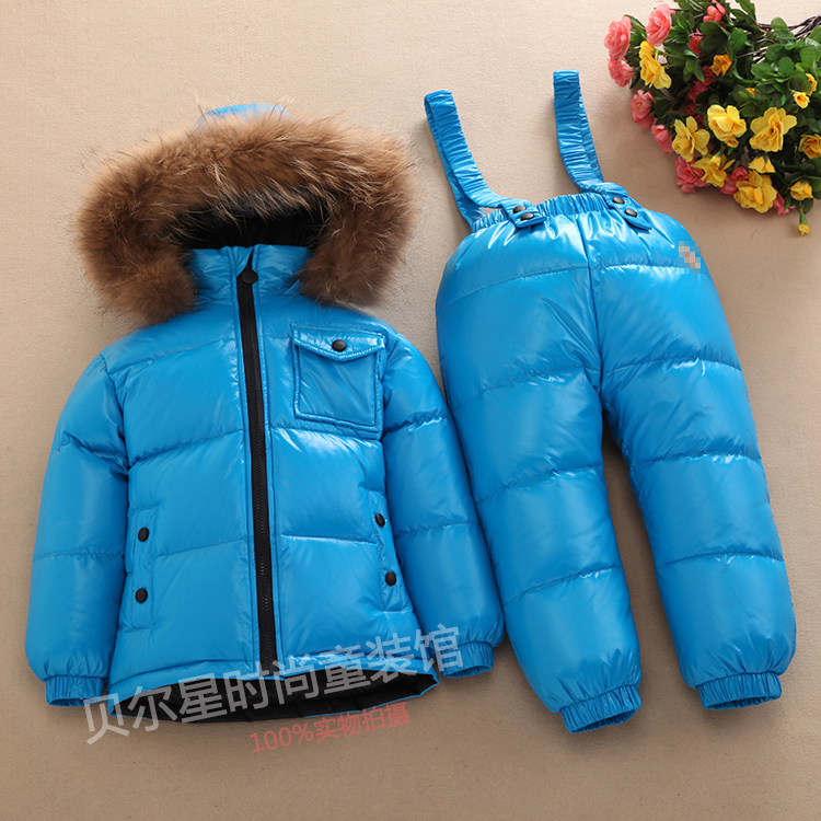 pure color design Children clothing set white down boys snowsuit baby outwear waterproof snowsuit girls jackets Kids Clothes russian winter warm children clothing set white down boys snowsuit baby outwear waterproof ski suit girls jackets kids clothes