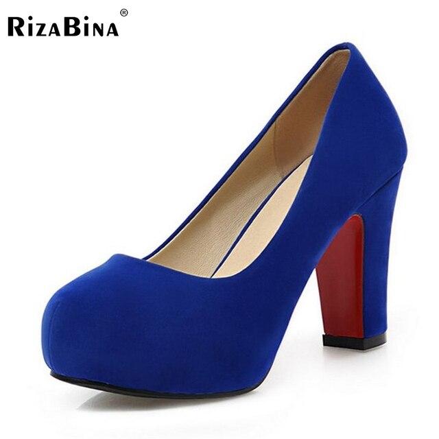 RizaBina Women's High Heel Shoes  Female Heels Sexy Dress Ladies Pumps Platform Pumps heeled Footwear Shoes Size 32-43 P19247