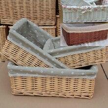 Wicker rural toy field storage basket weaving particles basket family each day make-up organizer desktop organizer