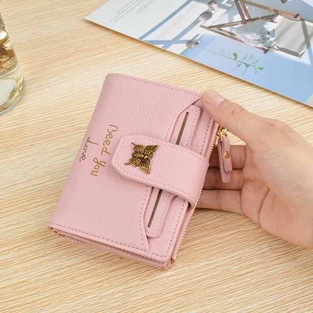 2018 бренд кожаный бумажник Для женщин кошелек для монет карман на молнии портфель удобный Роскошные Короткие Кошелек 3 раза женские кошельки карты кошельки