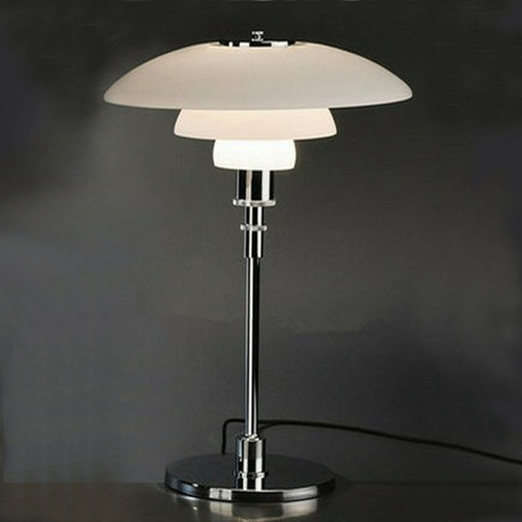 Brief modern glass ph table lamp American personality bedside office decoration lamps E27