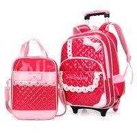 2017 New Children Backpacks Baby Girls Bag PU Leather Waterproof School Student Backpacks Kids Of Girls Travel Bag Schoolbag