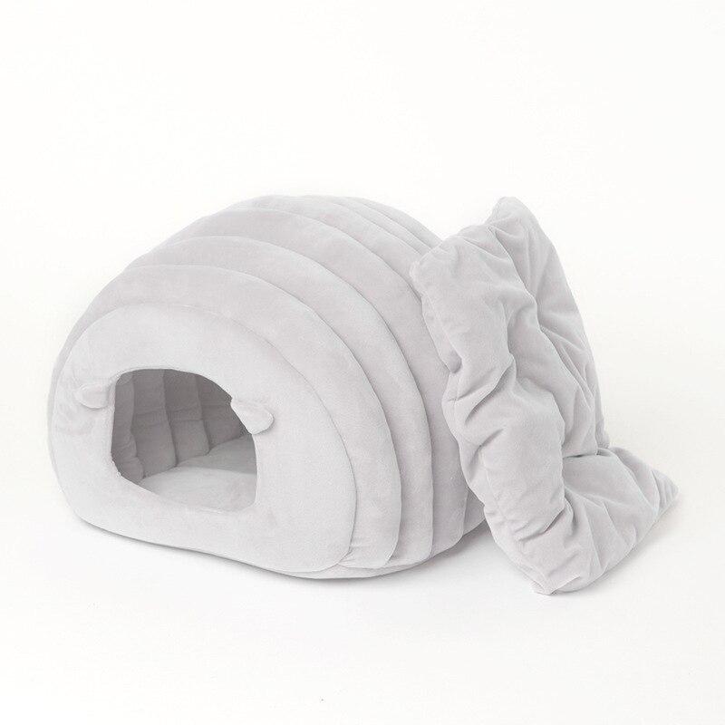 Litière pour chat chaud japonais pour animaux de compagnie maison pour chat automne et hiver lit pour chat Semi-fermé nid pour animaux de compagnie grotte chaude tapis de couchage nid fournitures pour animaux de compagnie