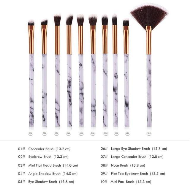 1/6/10Pcs Marbling Makeup Brushes Kit Marble Pattern Brush Set Eye Shadow Beauty Make Up Brush Cosmetic Tools Hot Sale 4