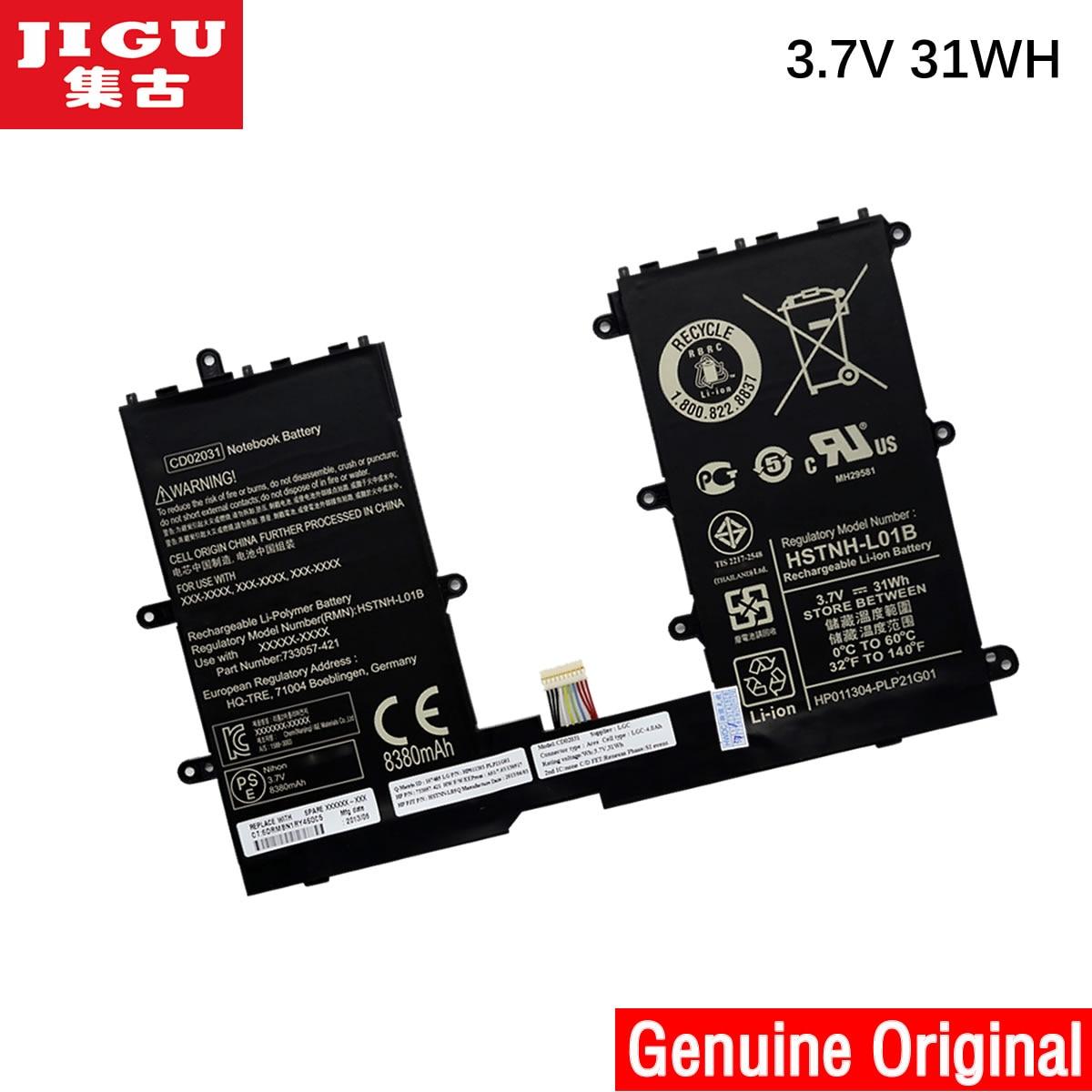 JIGU 740479-001 CD02031 HSTNH-L01B D'origine batterie d'ordinateur portable Pour HP Pro Tablette 610 G1