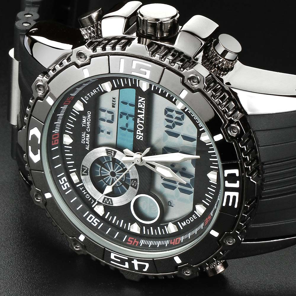 SPOTALEN Sport Male Digital Men Wrist Watches Date Waterproof Chronograph Watch Men Running Clock Montres homme