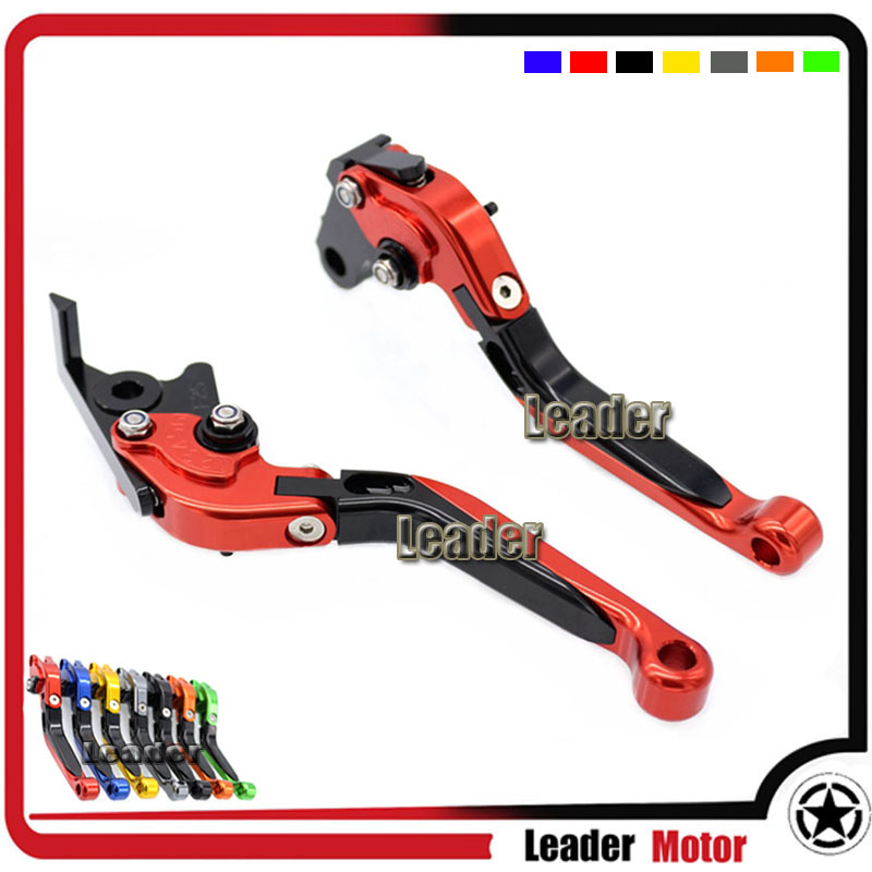 ФОТО For HONDA CB599/CB600 Hornet CB919 CB900RR VTX1300 NC700S/X Motorcycle Accessories Folding Extendable Brake Clutch Levers Red