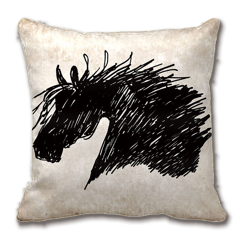 abstract horse head art throw pillow decorative cushion cover pillow case customize gift by lvsure for - Horses Head Pillow