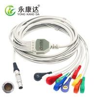 Free shipping! Compatible yikang holter ecg cable 10leads AHA Snap