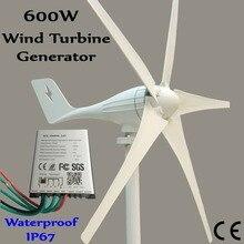 600W wind generator MAX 830W wind turbine+1000W  waterproof charge controller цена и фото