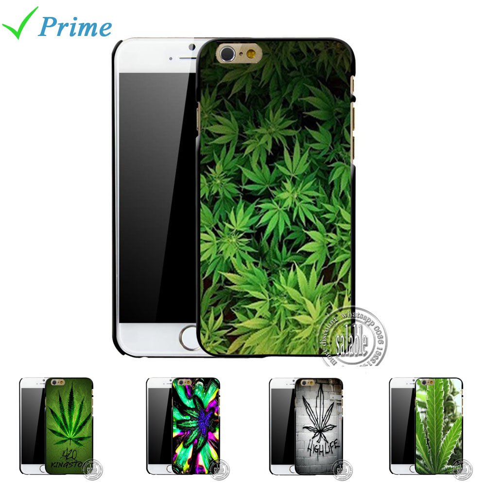420 Weed Attack Pot Leaf Printed Mobile Phone Case for Apple iPhone 5 5s 4 4s 5c 6 6s plus 4.7 5.5 inch